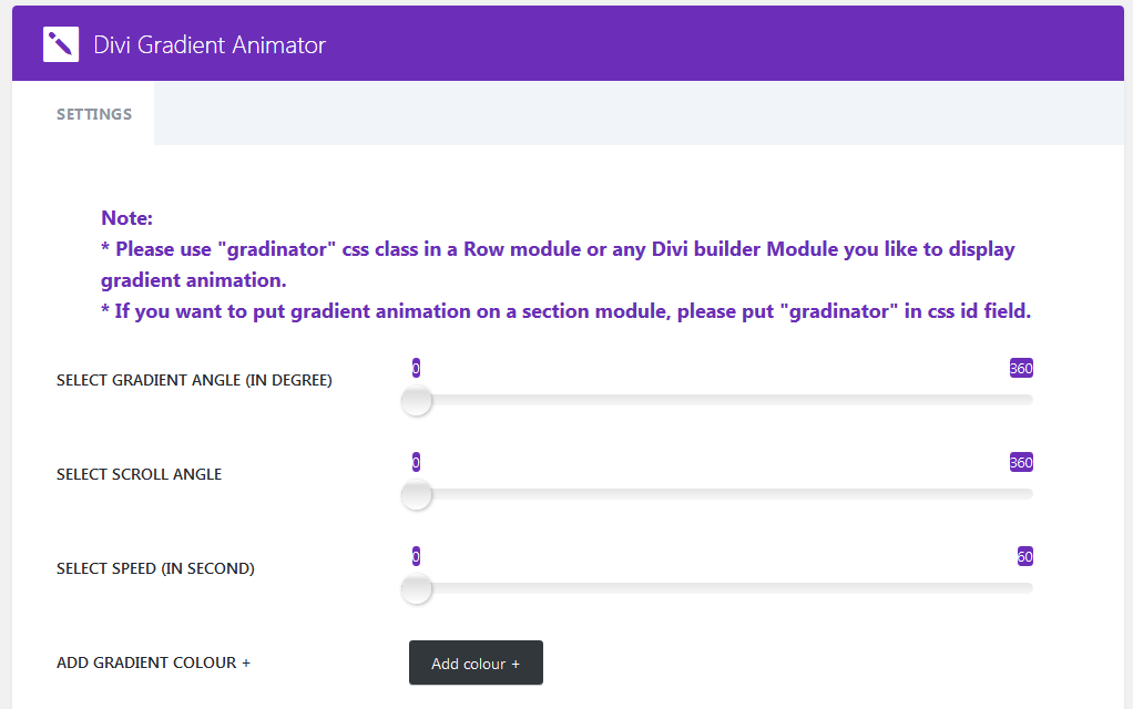 Divi Gradient Animator Lite Version