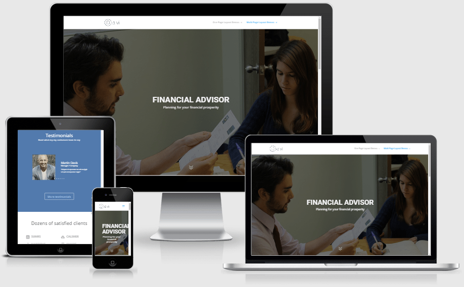 Financial Advisor Layout Pack for Divi Builder