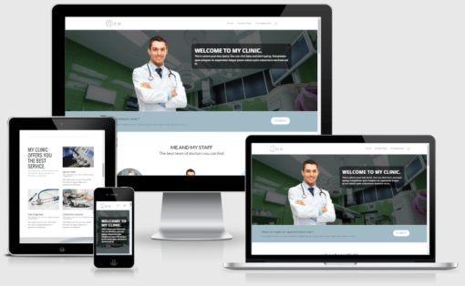 Divi Clinic Landing Page Layout for Divi Builder