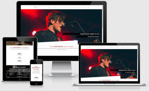 Music Studio Layout Pack for Divi Builder