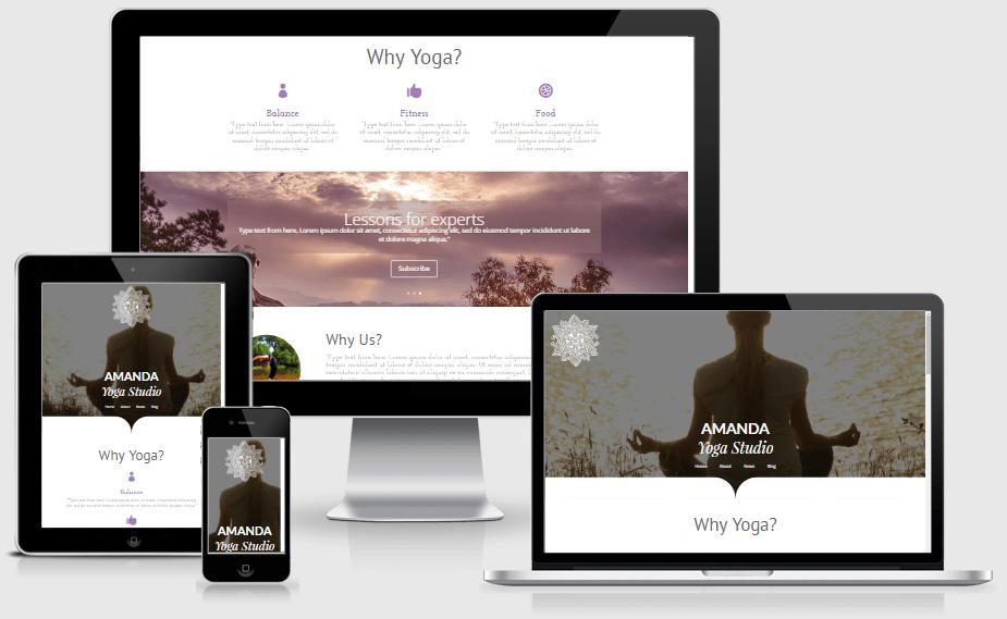 Yoga studio layout pack for Divi builder