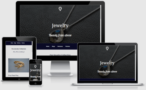 A pack of 4 Divi page layouts that designed specifically for Jewellery store.