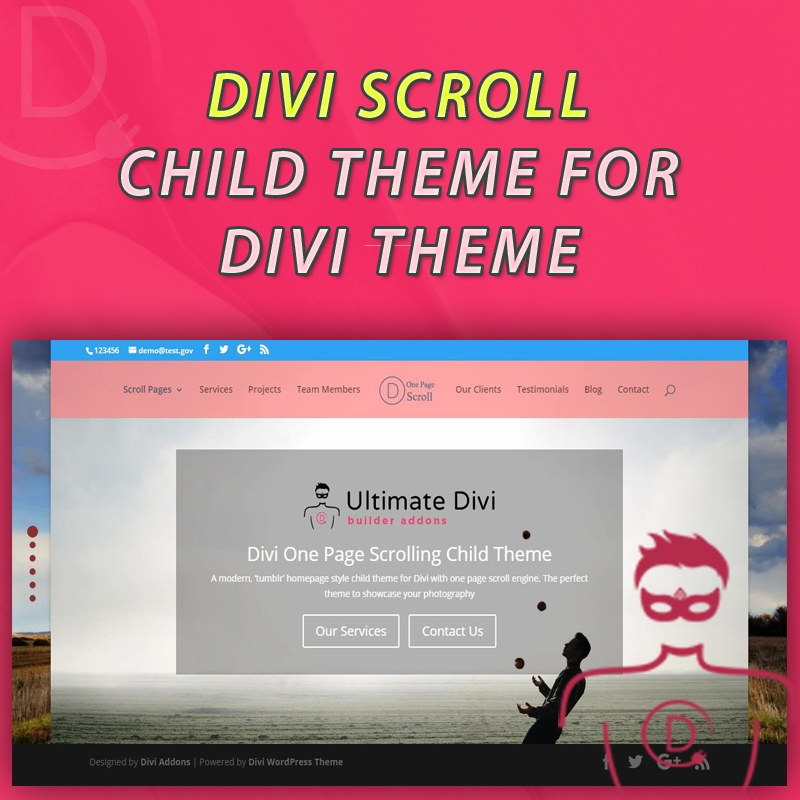 Full Page Scroll Template For Divi Theme Mouse Wheel Scrolling