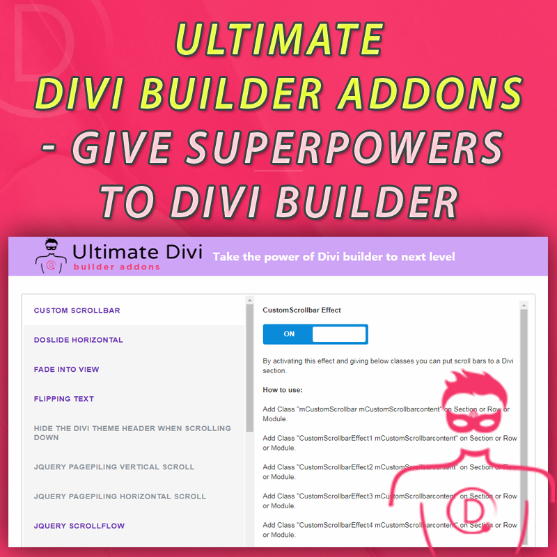 Ultimate Divi Builder Addons - Give superpowers to Divi Builder