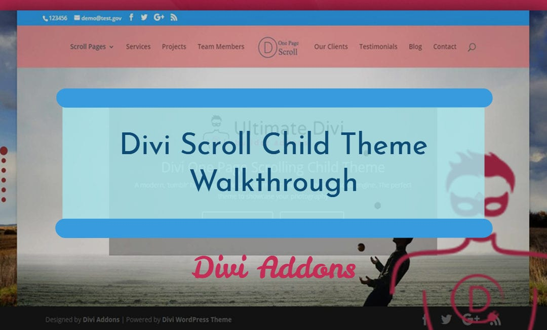 Full page one touch mousewheel scroll with Divi – Learn about our 'special' template