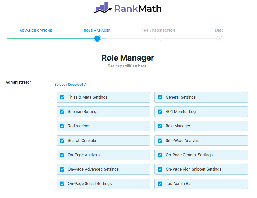 Rank Math SEO Role Manager