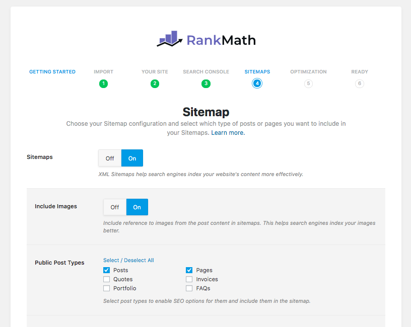 Rank Math SEO Sitemap