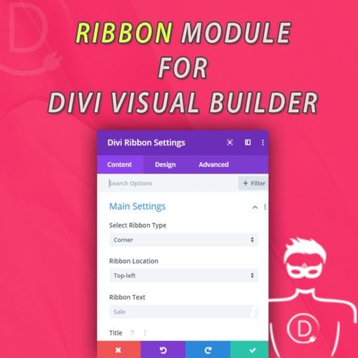 "Divi Ribbon Module for Visual Builder - First ""Original"" Module for Divi Visual Builder"