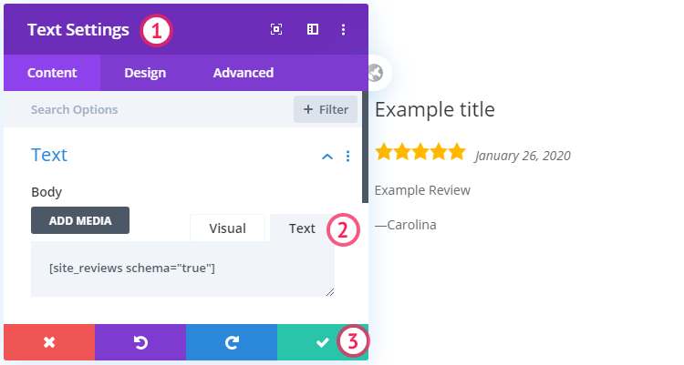 Site reviews plugin with Divi Theme