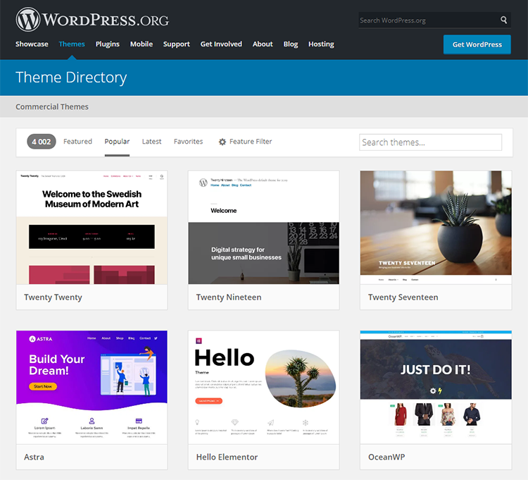 WP.org Official Theme Directory