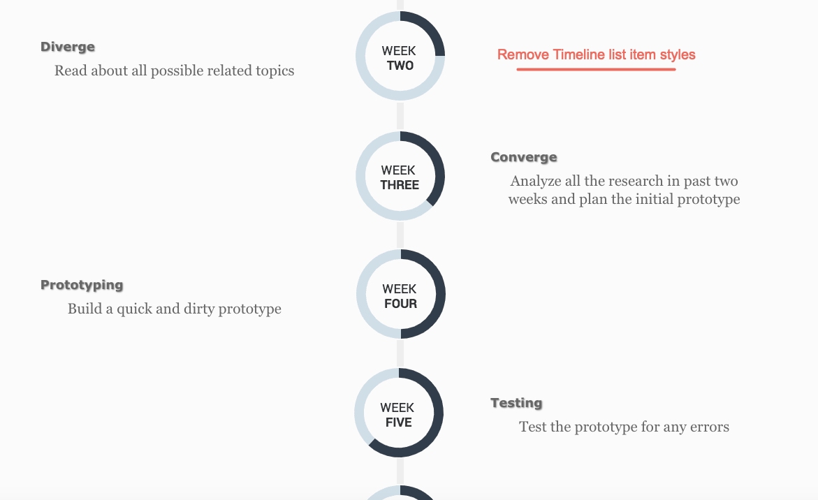 Remove Divi Timeline item styles