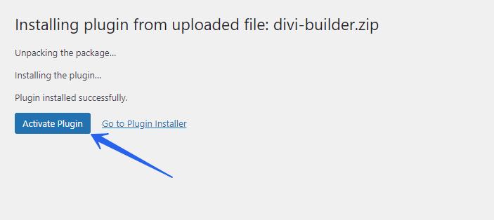 Activate Divi Builder